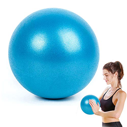 WELLXUNK® Yoga Fitness Ball, 25cm Morbida Pilates Palla, Antiscivolo Esercizio Ball, Anti Burst Yoga Palla, Palla Pilates Piccola Ginnastica Ritmica per Fitness Equilibrio, Core Training (Blu)