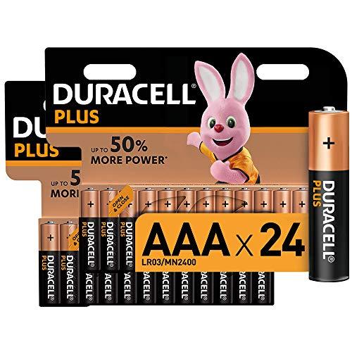 Duracell Plus AAA Micro Alkaline Batterien LR03, 24er Pack