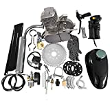 MOTOOS 80CC 26' 28' Bike Bicycle Motorized 2 Stroke Cycle Petrol Gas Engine Kit Set(Silver)