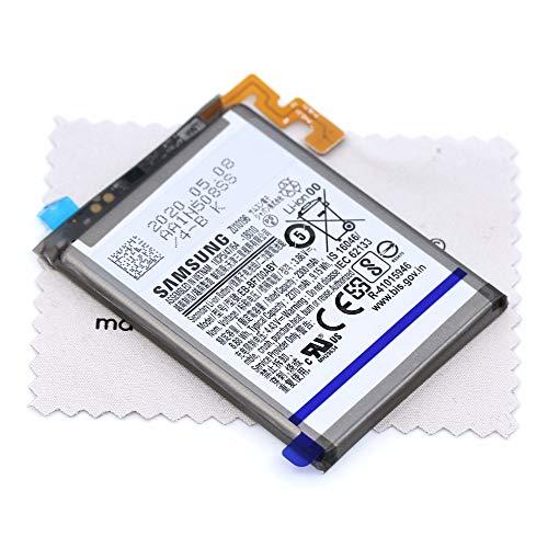Akku für Samsung Original EB-BF700ABY für Samsung Galaxy Z Flip (F700F) SUB mit mungoo Displayputztuch