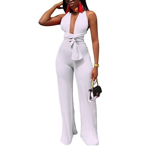 c87d5714fe47 Women s Sleeveless Wide Leg Jumpsuits - Head Turner