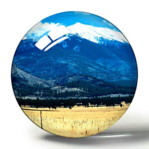 USA Amerika Flagstaff Volcano 3D Kühlschrank Magnet Souvenir Sammlung Reisegeschenk Kreis Kristall Kühlschrank Magnete