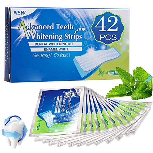 Teeth Whitening Strips, Professional Teeth Whitener Strips, Safe and Effective Teeth Whitening Strips Kit for Home Use (42pcs)
