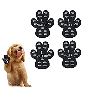 VALFRID Dog Paw Protector Anti-Slip Grips to Keeps Dogs from Slipping On Hardwood Floors,Disposable Self Adhesive Resistant Dog Shoes Booties Socks Replacemen L 40 Pieces