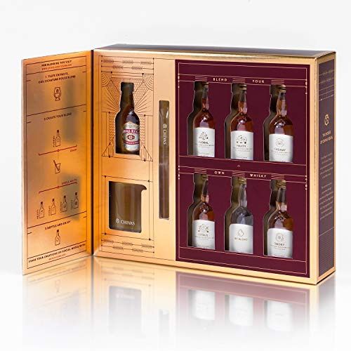 Chivas The Blend Confezione regalo - Set da 6 Bottiglie Whisky Blend da 50ml + 1 Bottiglia da 50 ml Chivas Regal Whisky