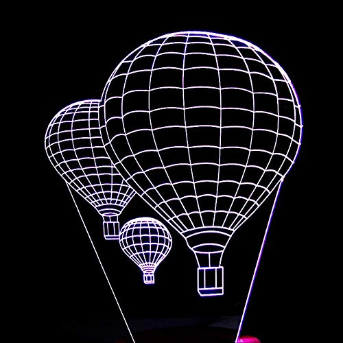 LG Snow lámparas Globo De Aire Caliente LED Colorido Degradado 3D Estéreo Lámpara De Mesa Táctil Control Remoto USB Luz De Noche Escritorio Mesita De Noche Decoración Creativa Adornos De Regalo