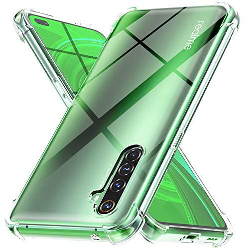 Ferilinso Hülle für RealmeX50Pro Hülle, [Version mit Vier Ecken verstärken] [Kamerapflegeschutz] Stoßfeste, weiche TPU-Silikonhülle aus Gummi für RealmeX50Pro(Transparent)