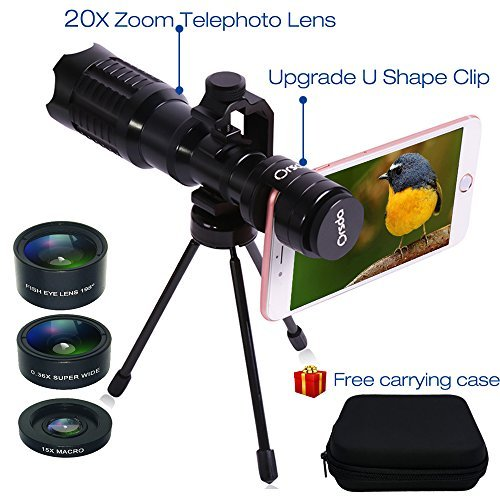 Huatop HD Phone Camera Lens Kit,20X Telephoto Lens+198