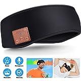 Casque de Sommeil Bandeau Bluetooth, Bluetooth sans Fil 5.0 Casque Sport Unisexe...