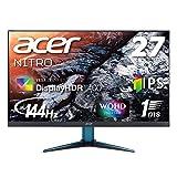 Acer ゲーミングモニター Nitro 27インチ WQHD VG271UPbmiipx IPS 1ms(VRB) 144Hz DisplayHDR400 FreeSync フレームレス HDMIx2 スピーカー内蔵 ブルーライト軽減