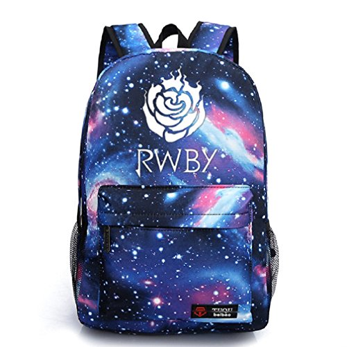 Read About YOYOSHome Luminous Anime RWBY Ruby Rose Cosplay Daypack Bookbag Laptop Backpack School Bag (Blue 1)