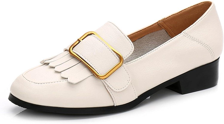 T-JULY Women's Tassel Slip-On Oxfords Loafer shoes Retro Fashion Casual Walking Flat shoes