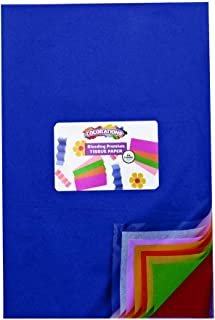 Colorations Bleeding Art Tissue, 50 Sheets, 12 inches x 18 inches, 20 Assorted Colors, Watercolor, Collage, Arts & Crafts, Mess-Free Paint Alternative