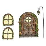 Landhaus Feen Tür Feentür Und Fenster Garten Miniatur Zwerg Für Haus Fenster Und Tür Miniatur Fee Elfe Für Anhänger Harz Handwerk Garten Bäume Im Freien Dekoration