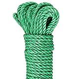 GardenMate Outdoor Seil 30 m lang 6mm dick aus 3 Polypropylene Strängen