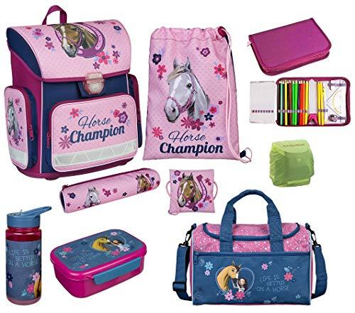 Disney Violetta Set de accesorios escolares 19tlg. Bolsa de deporte, bolsa de escolar de 85cm, Lluvia/funda de seguridad E vio de 17