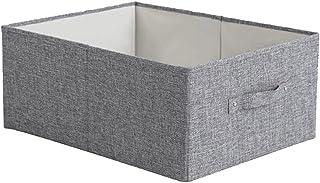 Lpiotyucwh Paniers et Boîtes De Rangement, Boîte de rangement Panier Tissu Tissu Vêtements Boîte de rangement Type de tiro...
