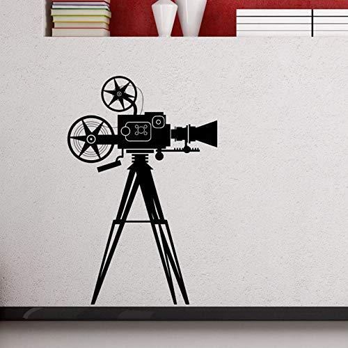 Cámara de película, calcomanía de pared, cine en casa, película, pegatina, foto, videojuego, sala de juegos, póster, Mural Art Deco, A3 57x87cm
