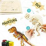 La Vida en Led DIY Dinosaurio T-Rex Puzzle 3D de Madera
