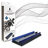 Spartan Gear Black Console Vertical Stand With Hub & Blue Light Compatible With Playstation 4- Playstation 4