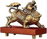 Feng Shui Lucky Ward Off böse Geister Reines Kupfer Qi Lin/Chi Lin Kylin Statuen Wohlstand Figuren Skulpturen Home Office Geschäftsraum Eröffnungsgeschenke