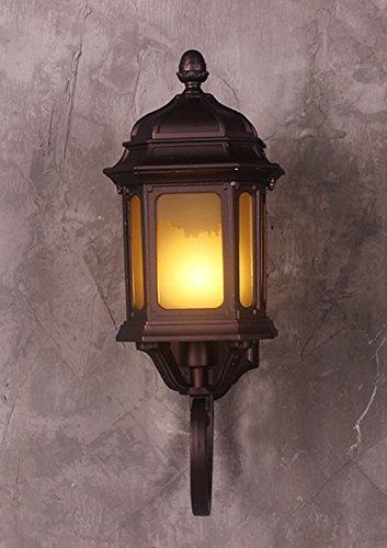 Applique murale de style européen Chambre Salon Fond Applique Lampe de chevet Allée Fer Forgé Rétro Applique Murale Lampe Extérieure