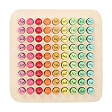 yestter-123 Tabla De Multiplicar De Madera Juego De Mesa De Matemáticas, 9 X 9 Matemáticas Tabla De Multiplicar Juguetes De Aprendizaje para Niños Rompecabezas De Mesa De Multiplicar para Niños