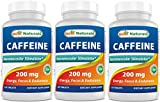 Best Caffeine Pills - 3 Pack Best Naturals Caffeine Pills 200mg Tablets Review