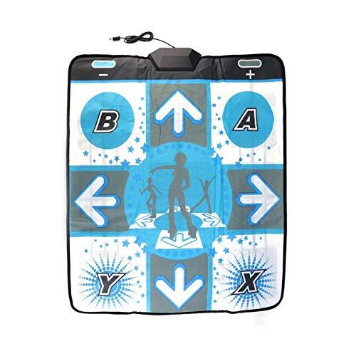 QiKun-Home El más Nuevo Antideslizante Dance Revolution Pad Mat Dancing Step para Nintend para Wii para PC TV Los Mejores Accesorios para Juegos de Fiesta Blanco