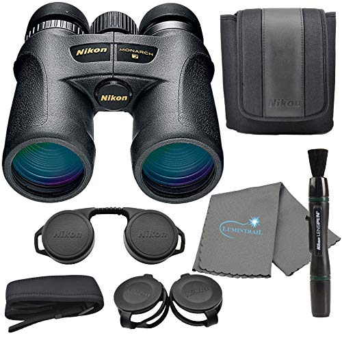Nikon Monarch 7 10x42 Binoculars (7549), Black Bundle with a Nikon Lens Pen and Lumintrail Cleaning Cloth
