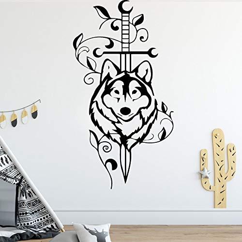 hetingyue Amerikaanse stijl wolf aangepaste muur stickers creatieve kinderkamer feestje huisdecoratie behang