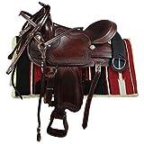 """Silver Horse Sella Western Laredo Marrone 16"""" = 40 cm..."""
