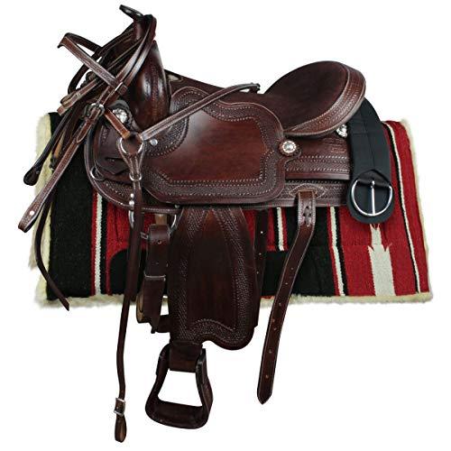 Silver Horse - Sillín Western Laredo, marrón, 16' = 40 cm
