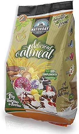 Harina de Avena Delicious Ouatmeal Sabores Variados 1Kg (Turrón de Almendras)