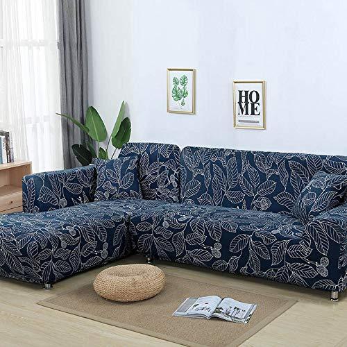 ASCV Funda de sofá nórdica, Juego de algodón, Funda de sofá, Funda de sofá elástica para Sala de Estar, sofá Chaise Longue en Forma de L, 4 plazas
