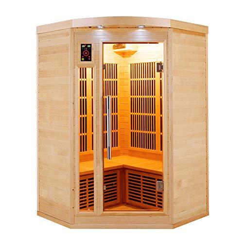 Sauna infrarosso d angolo apollon 2/3 persone APOLLON2C