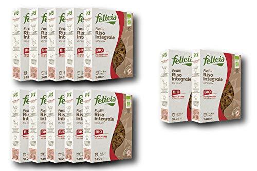 【お得な12個セット】玄米のグルテンフリーパスタ (フジッリ) Gluten Free Brown rice pasta (fusilli)