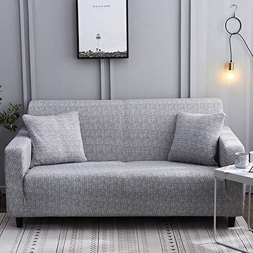 ASCV Funda de sofá elástica para Sala de Estar Funda de sofá de Licra para sofá de Esquina Funda de sillón A7 2 plazas