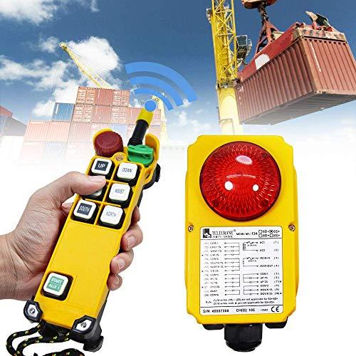 MXBAOHENG Mando para Grua Control de Radio de Grúa Control Remoto de Grúa Inalámbrico 6 Canales 220V F24-6S1*Receptor 1* Transmisor