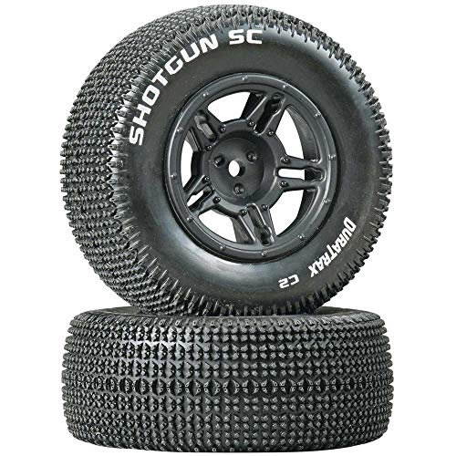Duratrax Shotgun SC Tire C2 Mounted Rear Tires: Slash (2), DTXC3687