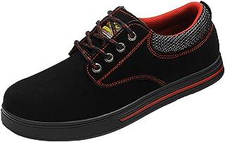KESOTO Men's Fashion Safety Shoes Steel Toe Sole Breathable Work Shoes Black - EU 43 US 9 UK 8.5