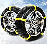 BiBOSS Snow Chains 10 Pcs Anti Slip Tire Chains Adjustable Security Emergency Car Tire Chains Fit for Most Car SUV Truck Vans,185-295mm/7.2-11.6''