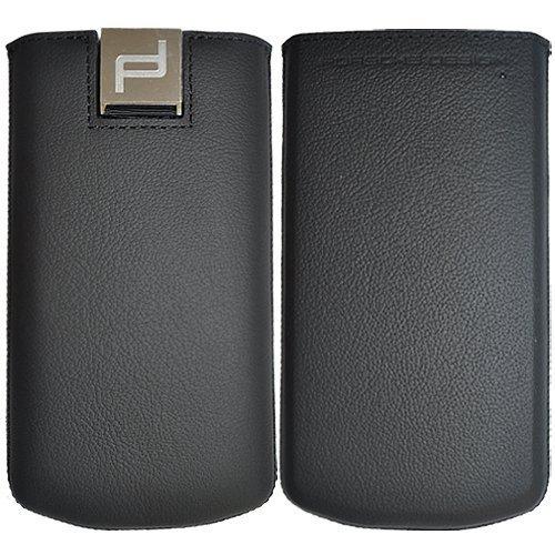 Porsche Design Echt Leder Schwarz Pocket Schutzhülle für P9982BlackBerry P '9982