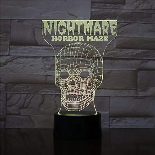 3D Illusion Lampe Led Nachtlicht Scary Maze Game Für Halloween Dekoration Für Kinder Für Schlafzimmerdekoration Visuelle Farbänderung Kinderschlaflampe Zur Raumdekoration