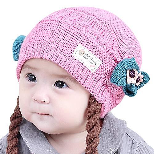 Mamum Bébé Mode Chaud Cap, Enfant en Bas Âge Garçon Garçon Chaud Chapeau d'hiver Bonnet Chapeau Mignon Oreilles en Peluche (B)