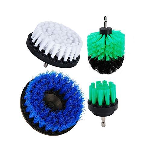 oxoxo 2(3pulgadas 4pulgadas 5pulgadas Taladro cepillo–Acoplamiento de tamaño mediano suave Scrub cristal Kit de limpieza para alfombras tapicería ducha baño azulejo lechada