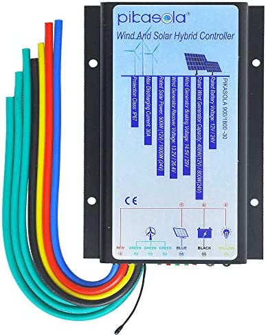 Pikasola Hybrid Wind Controller and Solar Controller for 12V 24V Battery Auto 30A Hybrid Charge product image