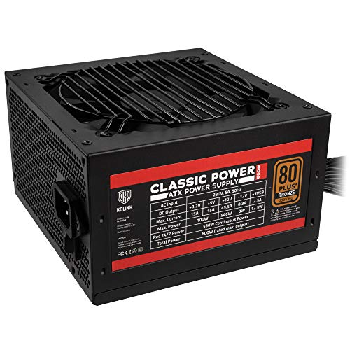 Kolink Classic Power Alimentatore PC 80 Plus Bronze - 600 Watt