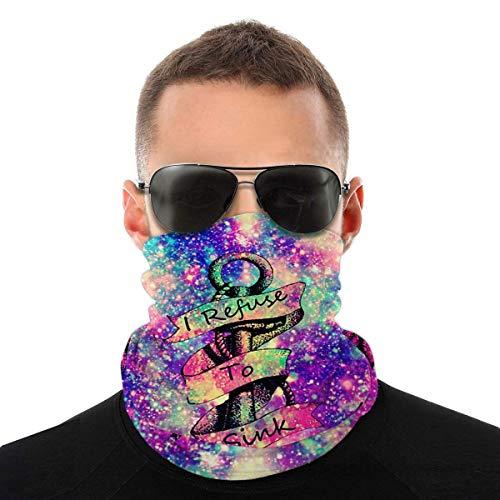 Nother Máscara irisente con purpurina iridiscente para la cabeza del arco iris del mar, bufanda cortavientos, máscara antipolvo, pasamontañas, bandana para el cuello, doble impresión