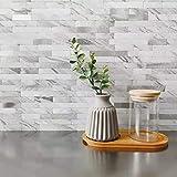 """11.5 x 11.81 inch"" DIH Peel and Stick Backsplash Tile on Kitchen,Bathroom,Wall (White) (5..."